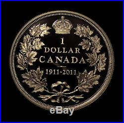 2011 Canada 1911 Silver Dollar Proof Cameo Rcm Gorgeous Low Mintage Silver Coin