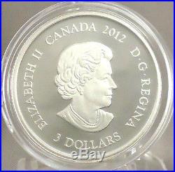 2012 $3 March Birthstone Aquamarine Pure Silver Proof Coin, Swarovski Crystal