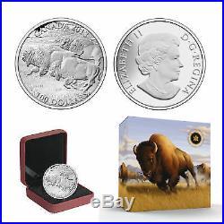 2013 $100 CANADA Bison, FINE. 9999 SILVER COIN (OGP/COA)