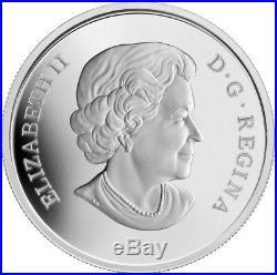 2013 Canada $20 Venetian Glass Murano Coneflower Butterfly 1oz Silver Coin