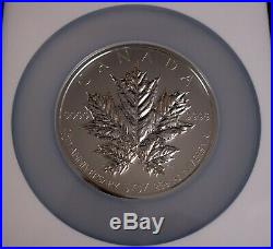 2013 Canada Maple Leaf 25th Ann. $50 5oz Silver Reverse Proof Coin PF69 COMPLETE