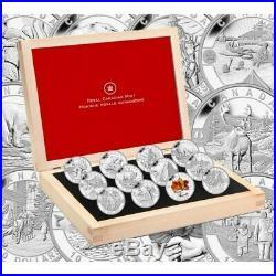 2013 Canadian $10 O Canada Series 1/2 oz Fine Silver 12-Coin set