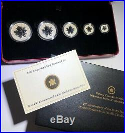 2013 Canadian 25th Anniversary Silver Maple Leaf Fractional 5 Coin Set Canada