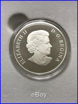 2014 Canada $100 Bighorn Sheep, Fine 9999 Silver Proof Coin (box/coa) Face Value