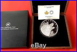2014 Canada $125 Dollar 1/2 Kilo 9999 Silver Coin High Relief Howling Wolf