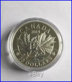 2014 Canada Majestic Maple Leaves $20 X 3 Coin Box Set 99.9 Silver Royal Mint