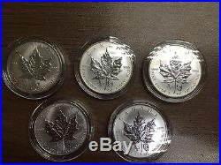 2014 Canada Maple Leaf Chinese Lunar Double Horse Privy Silver 1oz Coin (Culls)