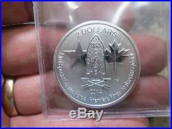 2014 Canada Silver Us Special Forces 2 Dollar Coins 1/2 Ounce Original Tube O 20