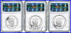 2014 Canada Superman 3-coin Silver Set Ngc Pf69 First Releases Only 14 Exist