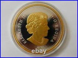 2015.50 cent 5-oz Fine Silver Coin BIG COIN SERIESwith 24 karat gold