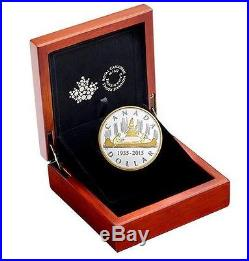 2015 Canada Pure Silver Voyageur 2 Oz Gold- Plated Coin (in Stock) Ready To Ship