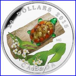 2015 Canada $20 Fine Silver Coin Murano Turtle With Broadleaf Arrowhead Flower