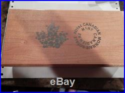 2015 Canada Bald Eagle Fractional coin set silver 9999 proof box COA