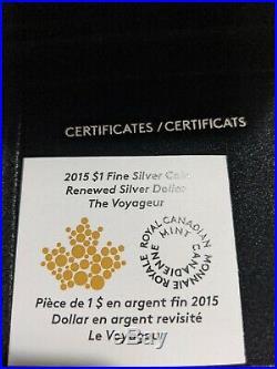 2015 Master's Club Renewed Dollar Voyageur 2 oz. Pure SILVER One Dollar Coin