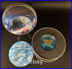 2016-1oz. Superman Space Blue with Red Crystals Silver Coin