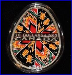 2016 & 2017 Canada Traditional Ukrainian Pysanka Silver Proof Egg Shaped Coins