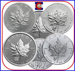 2016-2018 Canada 1oz Silver Wolf Grizzly Cougar Moose Antelope Bison Privy Coins