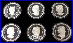 2016 Big Coin Canada Coloured Set. 9999 Fine Silver Complete Set as Minted