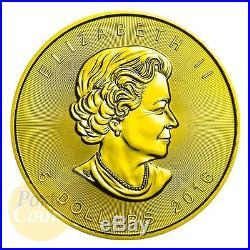 24kt Gold Gilded. 2018 Canada 5$ ZODIAC SAGITTARIUS MAPLE LEAF 1 Oz Silver Coin