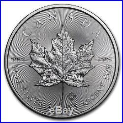 2016 Canada 1 oz Silver Maple Leaf Coins BU (Lot of 100, Four Rolls / Tubes)