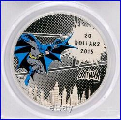 2016 Canada $20 DC Comics BATMAN THE DARK KNIGHT 1oz Proof Silver Coin PCGS PR69