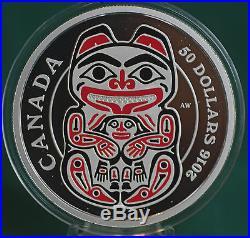 2016 Canada $50 BEAR Third coin in Mythical Realms of Haida 99.99% silver