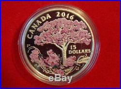 2016 Canada Fine Silver Coloured Coin Celebration of Spring Cherry Blossoms