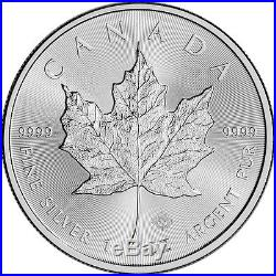 2016 Canada Silver Maple Leaf 1 oz $5 4 Rolls 100 Coins in 4 Mint Tubes