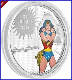 2016 Silver DC Comics Originals Superman & Wonder Woman Coin Set