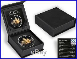 2017 1 Oz Silver $5 MAPLE LEAF AT SUNSET Coin WITH BOX AND COA