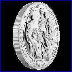 2017 Canada 1867 Confederation Medal Juventas et Patrius Vigor 10 oz Silver Coin