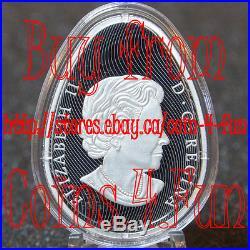 2017 Canada Traditional Ukrainian Pysanka - $20 Egg Shaped Silver Coin
