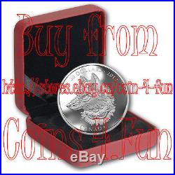 2017 Canada Zentangle Art The Great Grey Wolf 2 oz $30 Pure Silver Coin