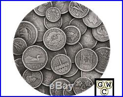 2017 Kilo'The Canadian Coin Collection' $250 Silver Coin. 9999 Fine(NT)(17929)