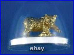 2017 Majestic Animals $100 Coin Sculpture Grizzly 10 Oz Silver Gold RCM