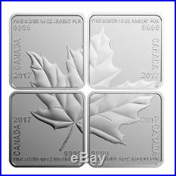 2017 Maple Leaf Quartet-Set of 4 Square-Shaped Silver Maple Leaf Coin