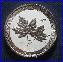 2018 $10 Maple Leaf 2 Oz 0.9999 Fine Silver Twin Maple Leaves Lot 290858