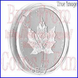 2018 30th Anniversary of SML 3 OZ $50 Pure Silver Incuse Maple Leaf Coin Canada
