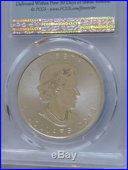 2018 Canada Flag FS 1 oz. Silver Maple Leaf -Incuse $5 Coin PCGS MS70 pop 306