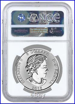 2018 Canada Predator Series Wolf 1 oz Silver $5 Coin NGC MS70 FDI SKU53492