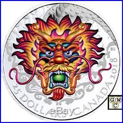 2018'Dragon Boat' Ultra-High Relief Color Prf $25 Fine Silver Coin 1oz(18482)NT