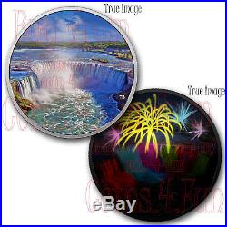 2018 Fireworks At The Falls 2 OZ $30 Glow-In-The-Dark Pure Silver Coin Canada