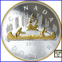 2018 Kilo'Voyageur Silver Dollar' Gold-Plated Proof Fine Silver Coin(18645)(NT)