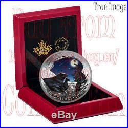 2018 Moonlit Tranquility Nature's Light Show $50 5 OZ Pure Silver Proof Coin