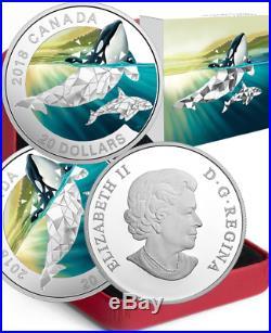 2018 Orcas Geometric Fauna $20 1OZ Pure Silver Proof Canada Coin Geometry
