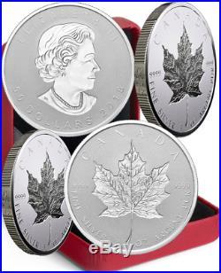 2018 Silver Maple Leaf 30th Anniv Double Incuse SML $50 3OZ Ag Proof Coin Canada