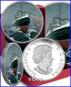 2018 Sinking SS Princess Sophia Centennial $20 1OZ Pure Silver Proof Coin Canada