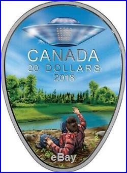 2018 UFO Falcon Lake Incident Extraterrestrial Phenomena $20 1OZ Silver Coin