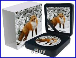 2019 1 Oz Silver $5 Canadian Wildlife RED FOX MAPLE LEAF Coin