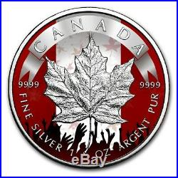 2019 1 Oz Silver Canada $5 PATRIOTIC MAPLE LEAF Coin